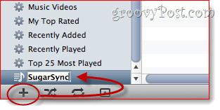 SugarSync iTunes Playlists