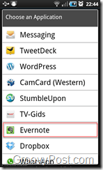 Evernote in Pulse 2