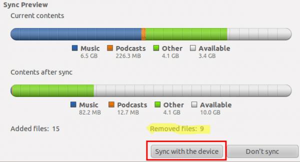 ubuntu rhythmbox iphone