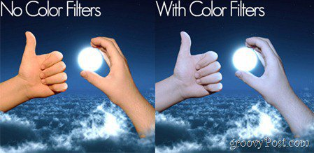 Hand in the clouds holding the moon