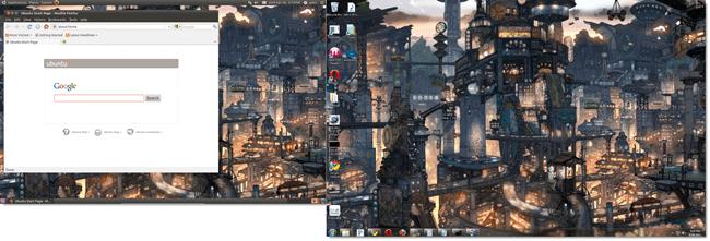 virtual box on dual screen ubuntu windows