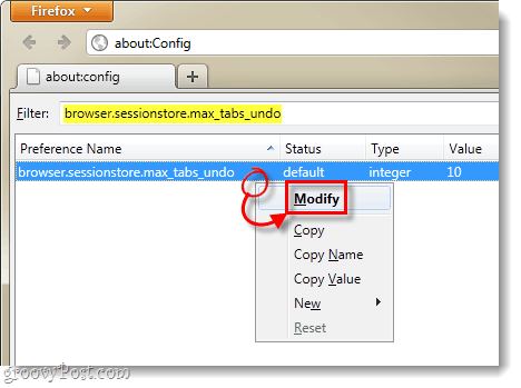 modify firefox 4 sessionstore.max_tabs