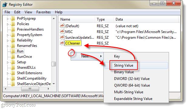 ccleaner new string value