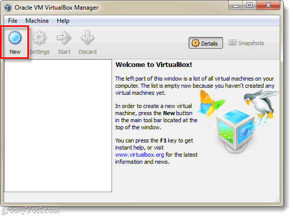 create a virtualbox virtual machine