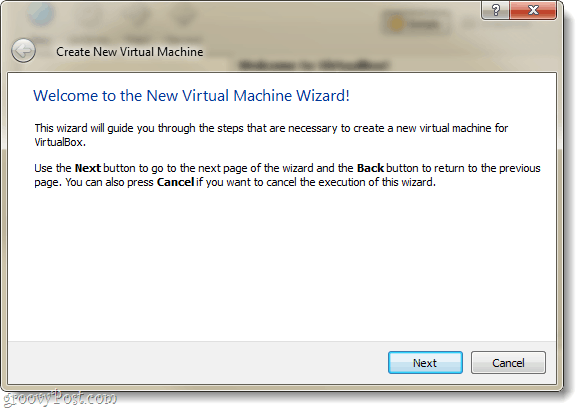 virtualbox new virtual machine wizard