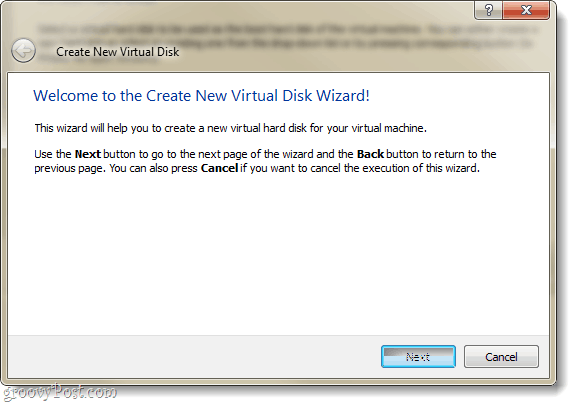 virtual machine create new virtual disk