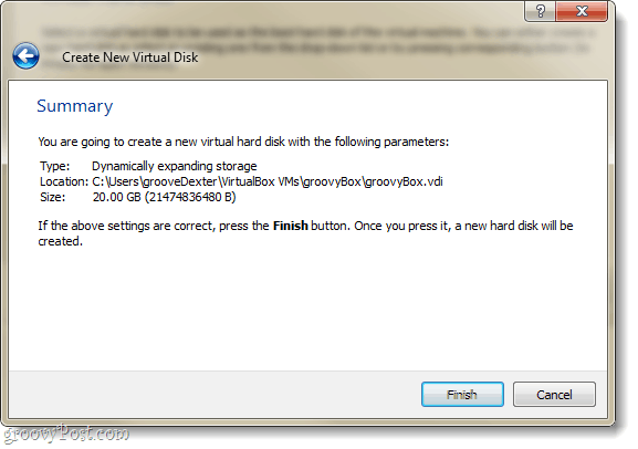 hard disk virtual summary