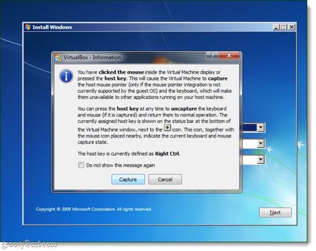 Virtualbox OS install