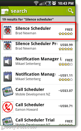 silence scheduler app in the android market
