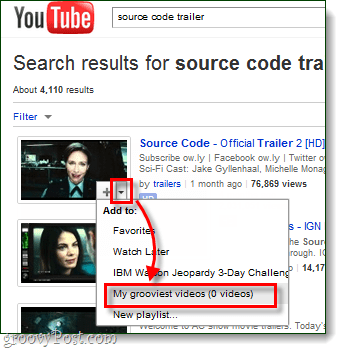 add search results and related videos to playlist