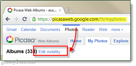 Picasa web albums bulk edit privacy