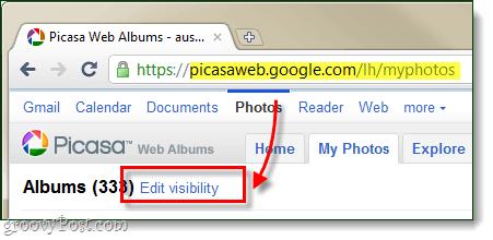 Picasa web albums bulk edit privacy