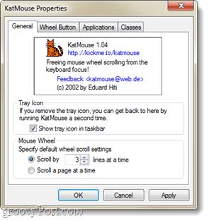 general show icon in taskbar