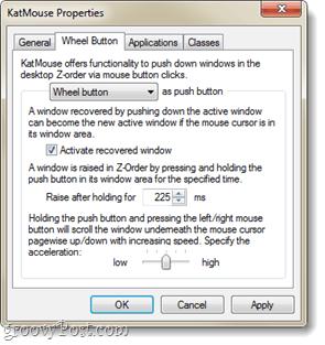 wheel button customization