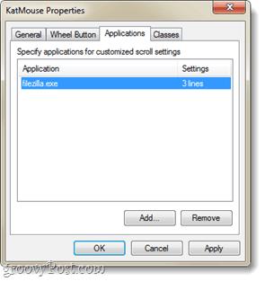 application wheel mouse white list