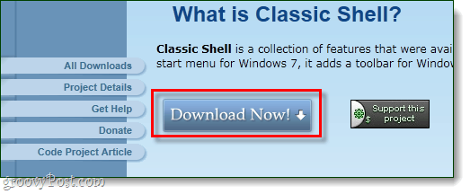 download classic shell from sourceforge
