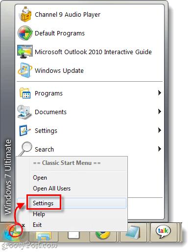 classic start menu in windows 7