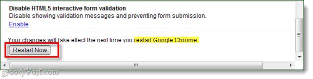 restart chrome to save changes