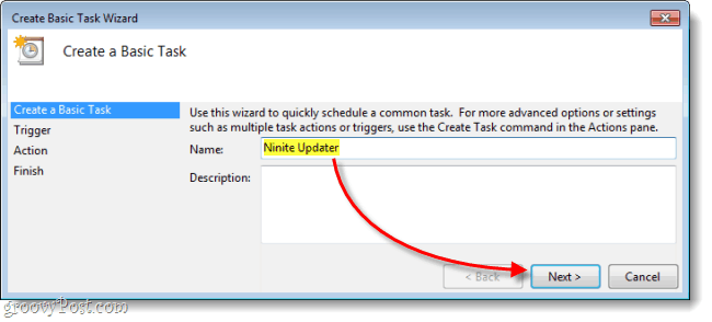 ninite updater set task name