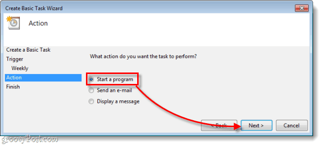 start a program in task scheduler