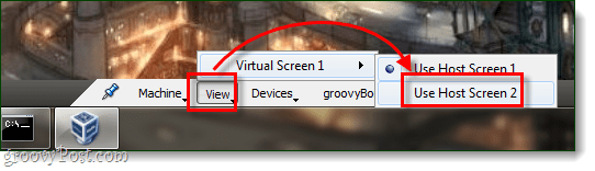 virtualbox bottom menu