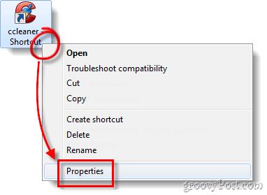CCleaner properties