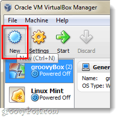 Make a new VM in Virtualbox