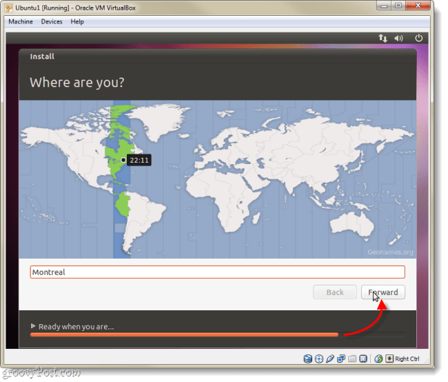 ubuntu time zone select