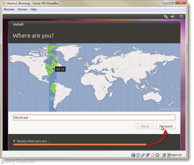 ubuntu time zone select