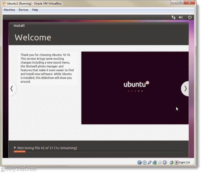 ubuntu install welcome page