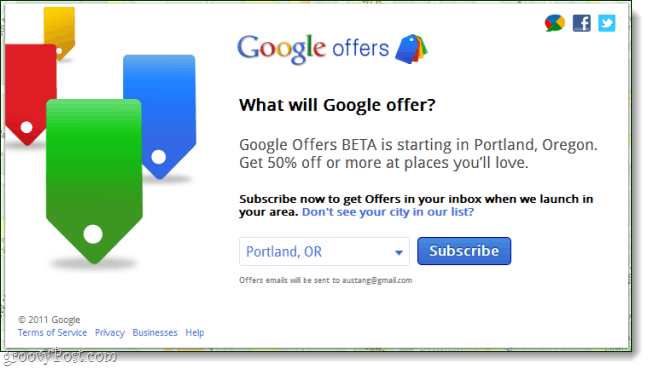 google offers beta signup sheet