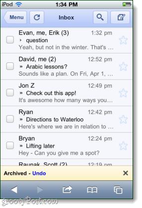 undo option google iphone gmail