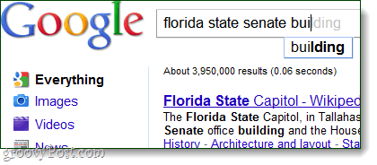 google search autocomplete improved