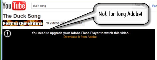 Watch YouTube without installing Adobe Flash Player