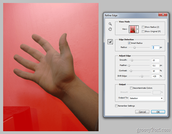 Photoshop Basics - Refine Edge