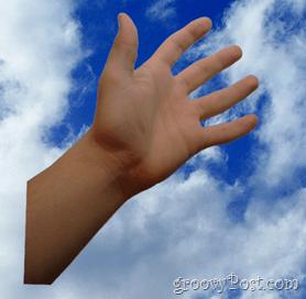 Adobe Photosho CS5 Place hand on canvas