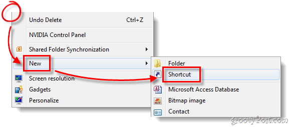 new windows shortcut