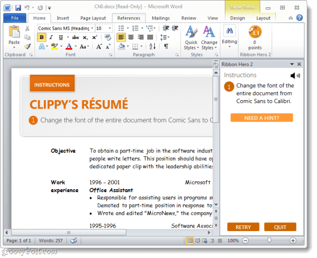updating clippys resume