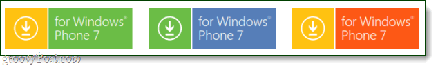Windows Phone 7 new button logo