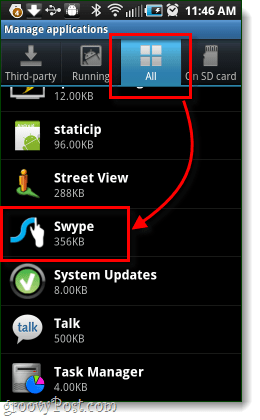 view all settings for all android applications