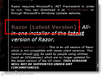 Razor, the ultimate IPY assistant