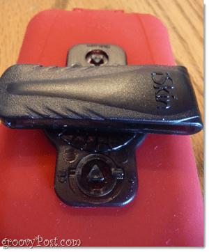 iSkin belt clip at 90 degrees