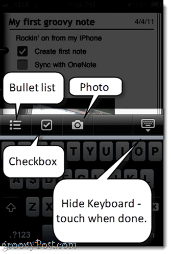 Editing OneNote from iPhone