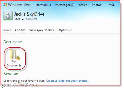 SkyDrive OneNote Integration