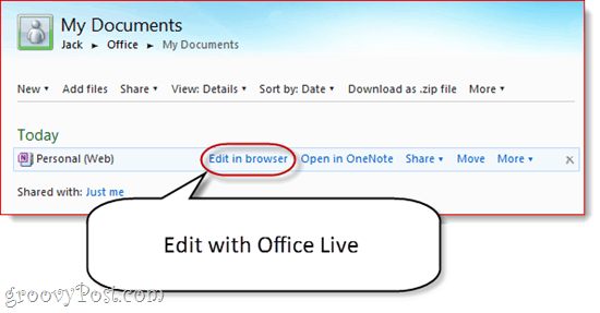 Editing Synced OneNote Notebooks in Offie Live