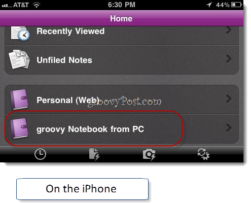 Onenote iphone app