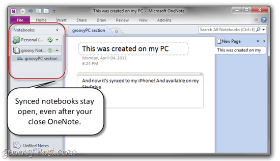 Automatically Sync OnEnote