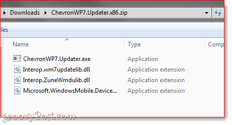 chevron wp7 updater nodo update