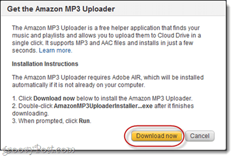Amazon MP3 Uploader