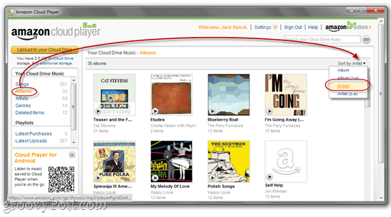 Amazon Cloud Player in Chrome